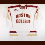 2011-12 Brian Dumoulin Boston College Game Worn Jersey - National Championship Season - Photo Match