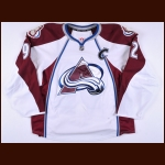 2013-14 Gabriel Landeskog Colorado Avalanche Game Worn Jersey - Photo Match