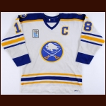 "1979-80 Danny Gare Buffalo Sabres Game Worn Jersey – ""1980 Lake Placid Olympic"" - 2nd Team NHL All Star - All Star Season - League Leading 56 Goals - Photo Match"