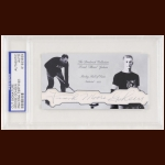 Moose Goheen Autographed Card - The Broderick Collection - Deceased