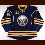 2016-17 Kyle Okposo Buffalo Sabres Game Worn Jersey - Photo Match – Team Letter