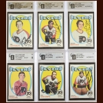 Lot of (6) 1971-72 Topps Philadelphia Flyers Autographed Cards – GAI Certified