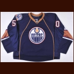"2008-09 Bryan Pitton Edmonton Oilers Training Camp Game Worn Jersey – ""30-year Anniversary"" – Team Letter"