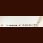 Kelly Hrudey Los Angeles Kings White Victoriaville Game Used Stick – Autographed