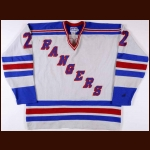 1979-80 Tom Laidlaw & Jocelyn Guevremont New York Rangers Game Worn Jersey - Photo Match