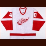 2003-04 Henrik Zetterberg Detroit Red Wings Game Worn Jersey - Photo Match