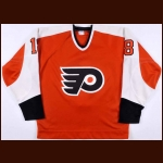 Early 1980's Lindsay Carson Philadelphia Flyers Game Issued Jersey