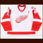 "2016-17 Ryan Sproul Detroit Red Wings Game Worn Jersey – Rookie – ""9"" – ""Mr. I"" – ""The Joe Farewell"" – Team Letter"