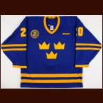 1996-97 Pernilla Burholm Sweden Women's National Team Game Worn Jersey