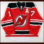 2011-12 Ilya Kovalchuk New Jersey Devils Game Worn Jersey - Retro Night - Photo Match - Team Letter