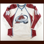 2009-10 Kyle Cumiskey Colorado Avalanche Game Worn Jersey – Photo Match – Team Letter