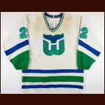 "1987-88 Dave ""Tiger"" Williams & Shane Churla Hartford Whalers Game Worn Jersey - Tiger's Last NHL Jersey"
