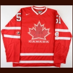 "Ryan Getzlaf Team Canada 2010 Olympics Replica Jersey – ""2010 Vancouver Olympic"" - Autographed – AJ Hologram"
