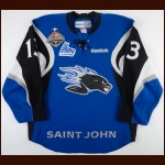 "2011-12 Tomas Jurco Saint John Sea Dogs Game Worn Jersey – ""2012 Memorial Cup"" - Photo Match – Team Letter"