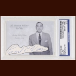 Carl Voss Autographed Card - The Broderick Collection - Deceased