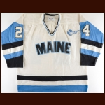 1981-82 University of Maine Game Worn Jersey – Player #24