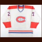 1986-87 Guy Carbonneau Montreal Canadiens Game Worn Jersey