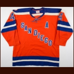 1974-75 Kevin Morrison WHA San Diego Mariners Game Worn Jersey - Inaugural Season SD Mariners - 1st Team WHA All Star