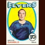 1971-72 Topps Bruce Gamble Philadelphia Flyers Autographed Card – Deceased