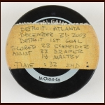 Mathieu Schneider Detroit Red Wings Game Puck – NHLPA Letter
