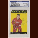 Alex Delvecchio 1965 Topps - Detroit Red Wings - Autographed - PSA/DNA