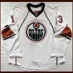 2007-08 Andrew Cogliano Oilers Game Worn Jersey - Rookie - Team Letter