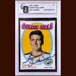 1971-72 Tom Williams Golden Seals Autographed Card - GAI Certified - Deceased
