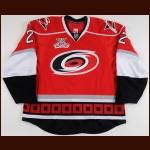 "2007-08 Mike Commodore Carolina Hurricanes Game Worn Jersey – ""10-year Anniversary"" - Photo Match – Team Letter"