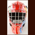 Ron Francis One of a Kind Hockey Hall of Fame Tribute Goalie Mask – Displayed in the Hockey Hall of Fame – Autographed – Includes Shoot for the Cure Letter and COA – Includes Gold Plate Which Also Hung in The Hockey Hall of Fame