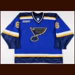 1999-00 Dave Ellett St. Louis Blues Game Worn Jersey