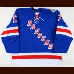 "2013-14 John Moore New York Rangers Stanley Cup Finals Game Worn Jersey – ""2014 Stanley Cup Finals"" - Photo Match - Team Letter"