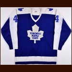 1981-82 Bob McGill & 1987 Rick Lanz Toronto Maple Leafs Game Worn Jersey – McGill Rookie