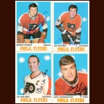 1970-71 Topps Philadelphia Flyers Autographed Card Group of 8