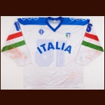 1994-95 Italian National Team Game Worn Jersey - Womens 4-Nations Cup - Player #15