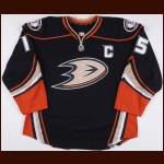 2012-13 Ryan Getzlaf Anaheim Ducks Game Worn Jersey – Alternate - Team Letter