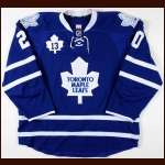 "2011-12 Dave Steckel Toronto Maple Leafs Game Worn Jersey - ""Sundin"" - Team Letter"