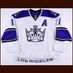 2010-11 Anze Kopitar Los Angeles Kings Game Worn Jersey - Photo Match – Team Letter