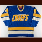 1977 Slap Shot Charlestown Chiefs Film Worn Jersey – Player #4 – Originally Donated by Brad Sullivan (Moe Wanchuk)