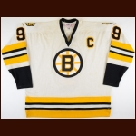 1977-78 Johnny Bucyk Boston Bruins Game Worn Jersey - 23rd & Final NHL Season