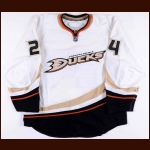 2008-09 Brad May Anaheim Ducks Game Issued Jersey