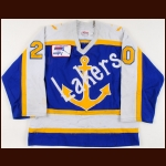 "1990-91 Vincent Faucher Lake Superior State Game Worn Jersey – ""20-year CCHA"""