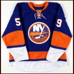 2009-10 Micheal Haley New York Islanders Game Worn Jersey - Rookie - Shirt off your Back Night - Team Letter