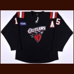 2011-12 Bill McCreary New Jersey Outlaws Game Worn Jersey - Commissioner's Cup Winning Season