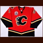 "2004 Chris Simon Calgary Flames Stanley Cup Finals Game Worn Jersey – ""2004 Stanley Cup Finals"" - Photo Match – Team Letter"
