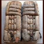 1979-80 Don Edwards Game Worn Buffalo Sabres Goalie Pads - Porky Palmer Letter