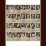 Complete Set (50) - 1940 J.C. Penney Company /Peerless Weight Vending Movie Star Cards