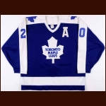 1987-88 Al Secord Toronto Maple Leafs Game Worn Jersey - Photo Match