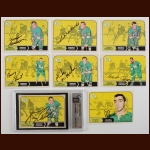 Lot of (8) 1968-69 OPC  Minnesota North Stars Autographed Cards – Includes Deceased