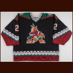 1997-98 Murray Baron Phoenix Coyotes Game Worn Jersey – Team Letter