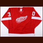 1993-94 Chris Osgood Detroit Red Wings Game Worn Jersey – Rookie